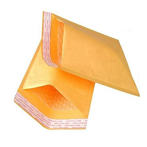 "#0 6 x 10 Inch Oknuu Packaging Supplies Kraft Bubble Mailers Self-Sealing Shipping Envelopes Plastic Mailing Bags 6""x10"" KBM0 6""x9"" Inner Size (10 Pack)"