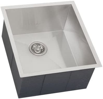 Phoenix 18-1 2 Undermount 16 Gauge Stainless Steel Square Kitchen Bar Sink Zero Radius