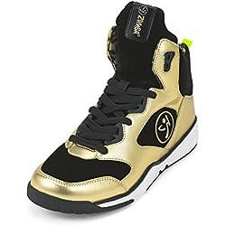 Zumba Fitness LLC Women's Zumba Energy Boom Sneaker, Metallic/Gold, 8 Regular US
