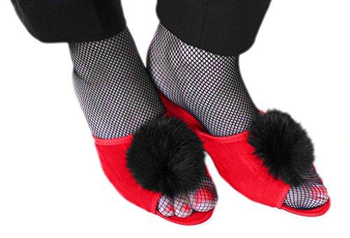 Luxury Line , Damen Hausschuhe Rot