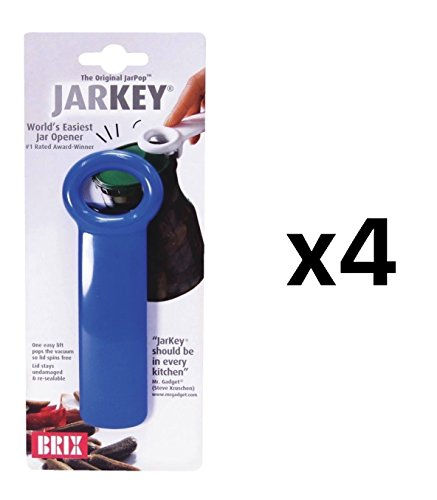 Harold Import Company Brix Original Easy JarKey Opener Colors May Vary (4 Pack)