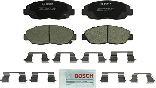 Bosch BC764 QuietCast Premium Ceramic Disc Brake Pad Set For: Honda Accord, Insight, Front (4 Cyl Power Slot Brake)