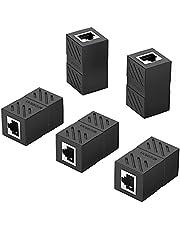 UGREEN RJ45 Koppeling Extender Ethernet Connector voor Ethernet Kabel, Lan Kabel, Verlengkabel, 8P8C Netwerkkabel RJ45 Koppeling Compatibel met Cat8, Cat7, Cat6, Cat6e, enz. 5 Stuks (Zwart)