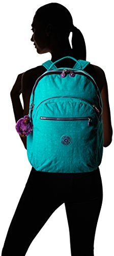 Kipling Seoul Backpack, Cool Turquoise Contrast Zip, One Size by Kipling (Image #5)