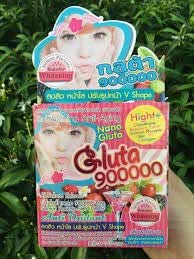 (2Box X 20Pack) Nano Gluta 900000 All Nature Extract Glutahione 900000 mg.Brightening Anit-Aging. Salmon Placenta SOP 1000+ ANIT Dxidant Fiber, VIT C Collongen V Shape