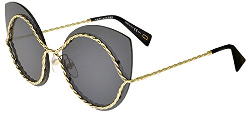 Marc Jacobs Metal Cat Eye/Butterfly Sunglasses 61 0J5G Gold (IR gray blue - Eye Sunglasses Marc Cat Jacobs