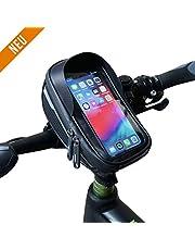 Velmia Handyhalterung - Praktische Lenkertasche für Fahrrad - Wasserdichte Fahrradtasche mit Einer kompakten Größe & 0,65 Liter Stauraum - reflektierende Handyhalter für EIN Maximum an Sicherheit