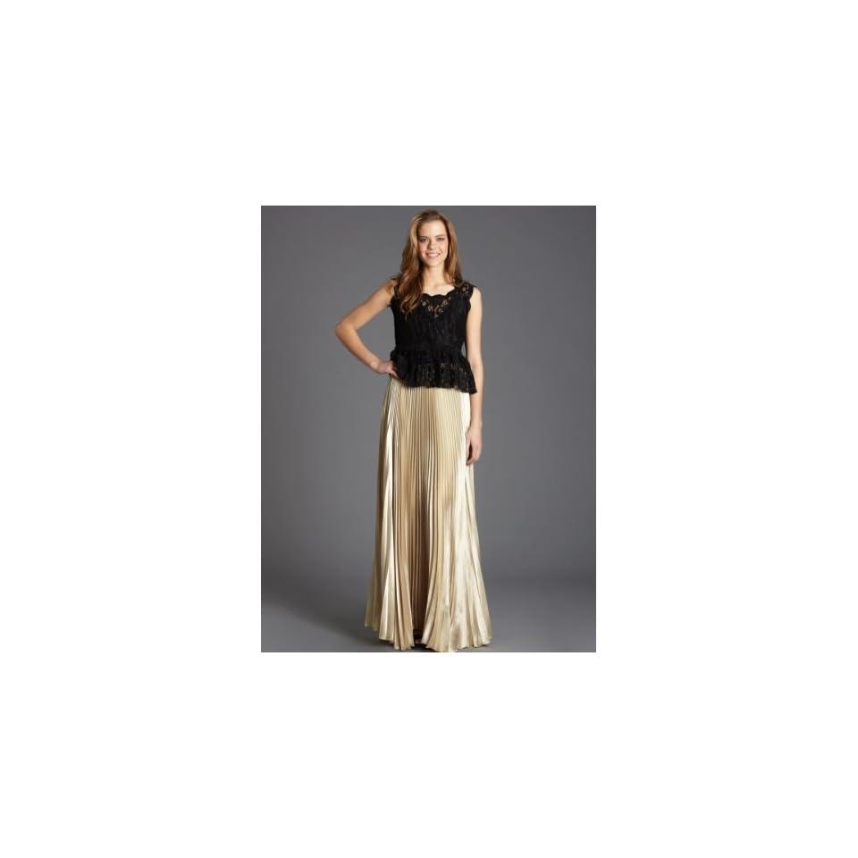 Von Vonni Long Pleated Skirt / White Gold RaVon szLarge