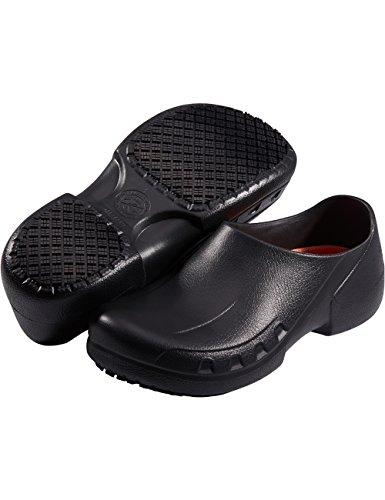 SensFoot Slip Resistant Chef Shoes Restaurant Non Slip Work Shoes for Men Women (9 M US Women / 7 M US Men) Black