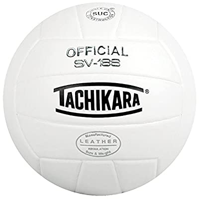 Tachikara Institutional Quality Composite Leather Volleyball, Royal-White by Tachikara