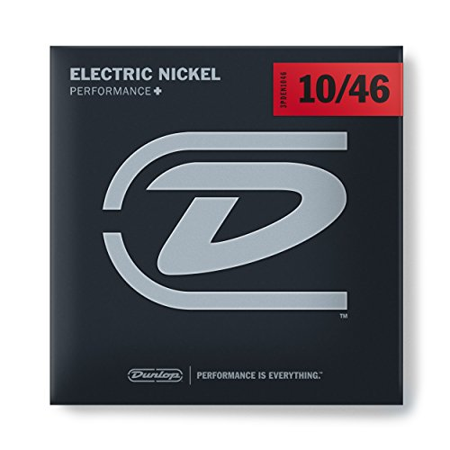 Dunlop 3PDEN1046 Nickel Wound Electric Guitar Strings, Medium.010–.046, 3 Sets/Box by Jim Dunlop