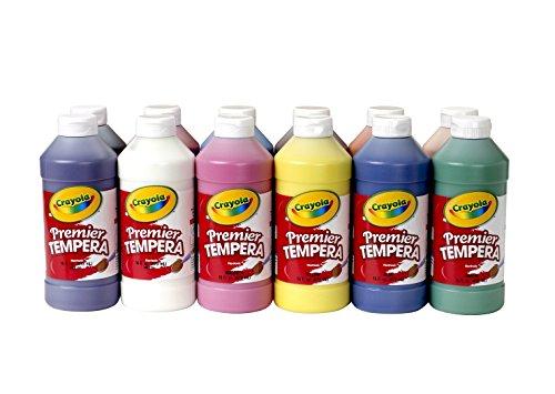Crayola Premier Non-Toxic Liquid Tempera Paint Set , Assorte