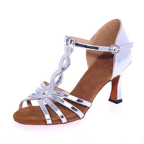 ballroom In yc L Ballo 5cm Silver Scarpe personalizzabile silver Pelle 7 Gold Da Latin Artificiali Donne Alta 7qY8wqpC
