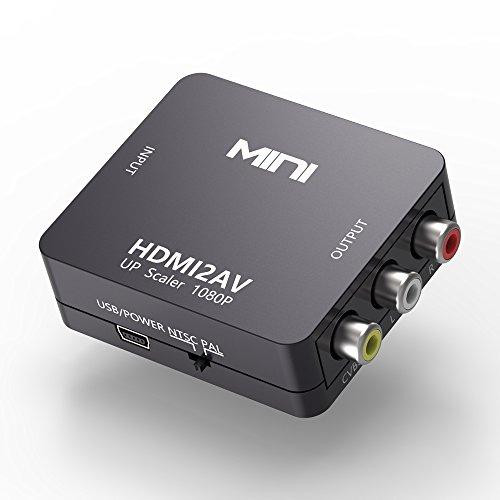 HDMI to RCA, HDMI AV video audio composite PAL / NTSC Converter