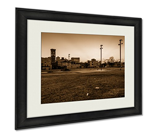 Ashley Framed Prints Sunset At Old Town Mall In Baltimore Maryland, Wall Art Home Decoration, Sepia, 34x40 (frame size), - Baltimore Maryland Malls