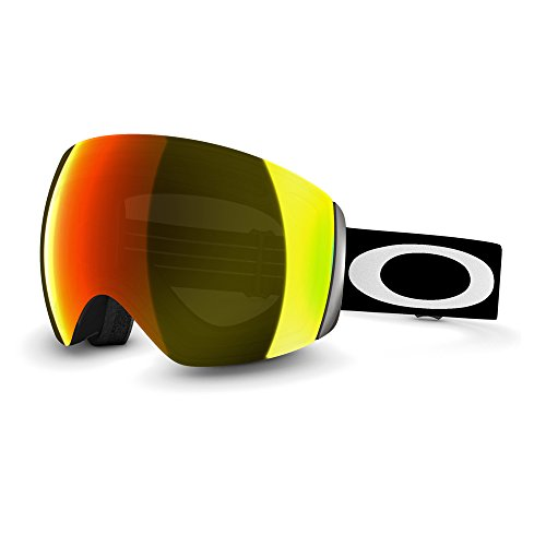 Oakley Flight Deck Ski Goggles, Matte Black/Fire Irid (Flight Deck Helmet)