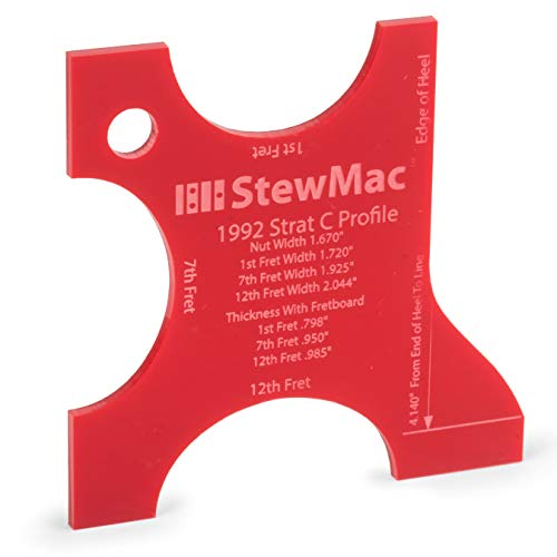 StewMac Neck Shaping Templates for Electric Guitar, for 1992 Strat C Profile Neck Profile