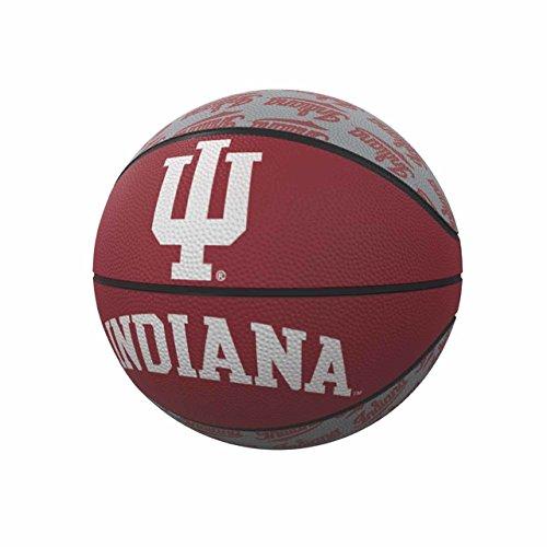 Logo Brands NCAA Indiana Hoosiers Rubber Basketball, Miniature, Red