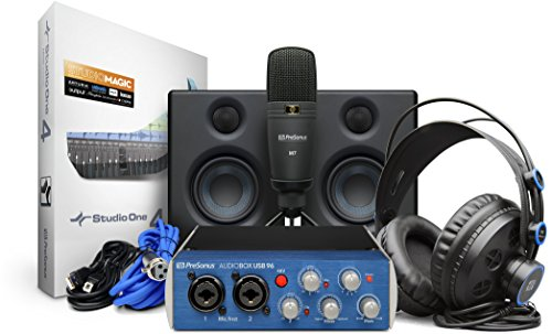 PreSonus AudioBox Studio Ultimate Bundle Complete Hardware/Software Recording Kit with Studio Monitors (Music Software Home Studio)