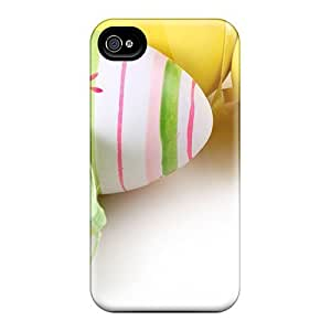 Snap-on Easter Bow Colorful Easter Eggs Case Cover Skin Compatible With Iphone 4/4s
