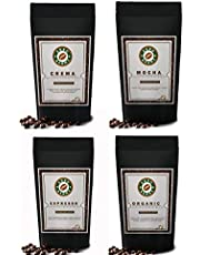 4x250gm Variety Pack Promotional Offer from Agro Beans ( Daily Roasted Award Winning Coffee Beans) (Plunger-Preground Coarse, 250gm)