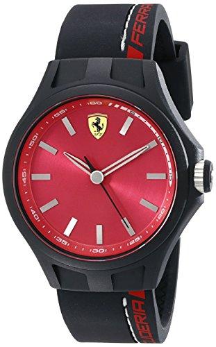 Price comparison product image Ferrari Men's 830219 Pit Crew Analog Display Quartz Black Watch