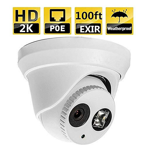 POE IP Dome Security Camera 4MP, 98ft NightVision, 2.8mm Wide Angle Lens, IP67 Weatherproof, IK10 Vandal Resistant Dome Onvif, H.264+ DS-2CD2342FWD-I OEM 100% Hikvision Compatible
