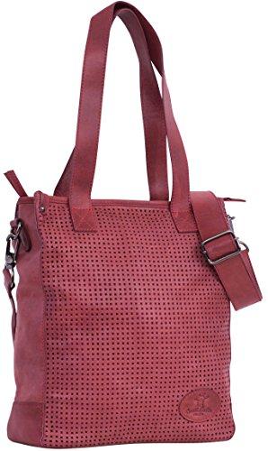 Gusti Leder studio ''Sunny M'' Shoppertasche Ledertasche Shopper Henkeltasche Damenhandtasche Freizeittasche Schultertasche Handtasche Damentasche Frauentasche Rot 2H48-29-3