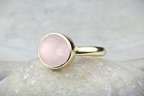 Love quartz ring,rose quartz ring,gold ring,pink quartz ring,pink ring,gemstone ring,girlfriend ring,i love you gift