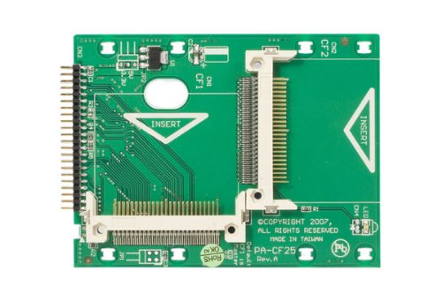 StarTech.com 2.5-Inch IDE to Dual Compact Flash SSD Adapter Card (CF2X2IDE25) by StarTech