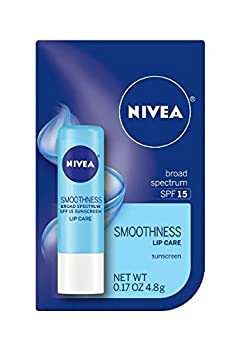 NIVEA Kiss of Smoothness Hydrating Lip Care, SPF 15, 0.17 Ounce Pack of 12