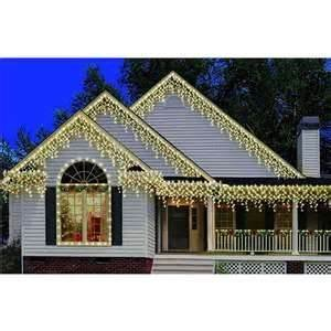 300 High Density Icicle Lights (Indoor/Outdoor 9 feet Clear bulbs white wire) Incandescent BULBS