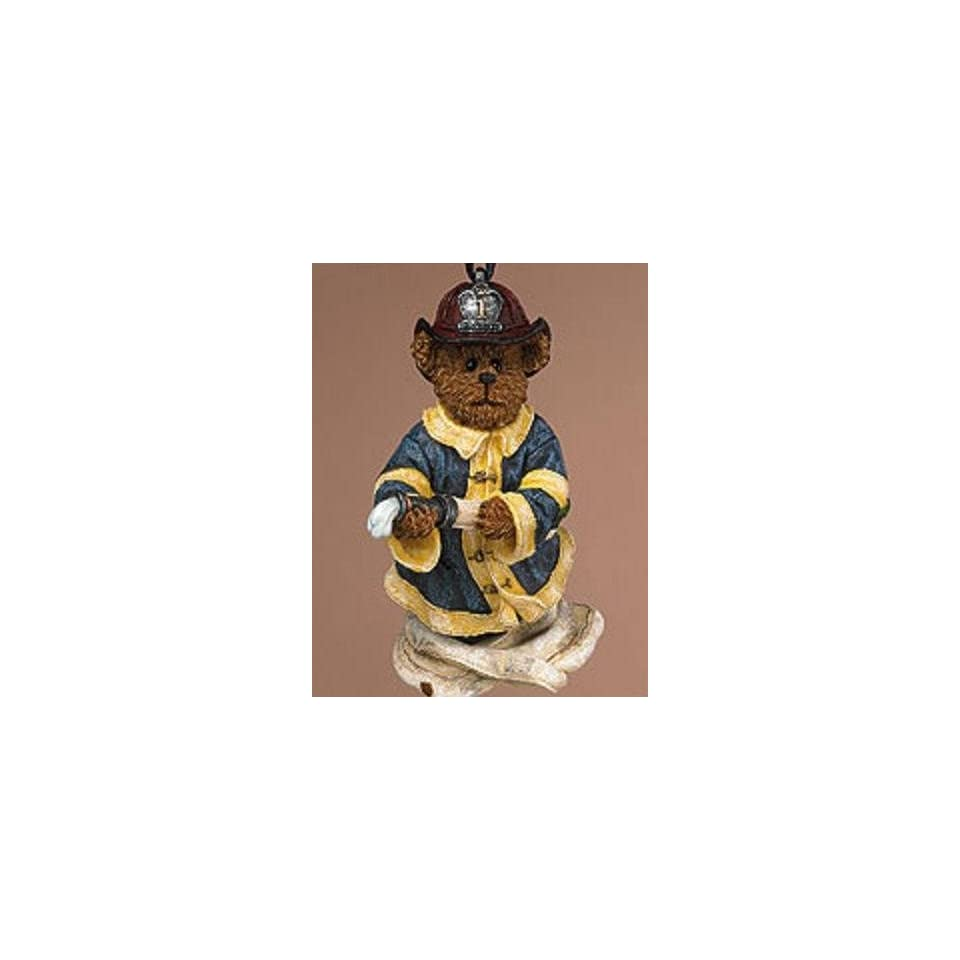 Boyds Bears & Friends Ornament Firefighter Chief Elliot   Bearstone Collection