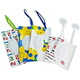 Reusable Wet Wipe Pouch(Set of 5)- Dispenser for Baby...