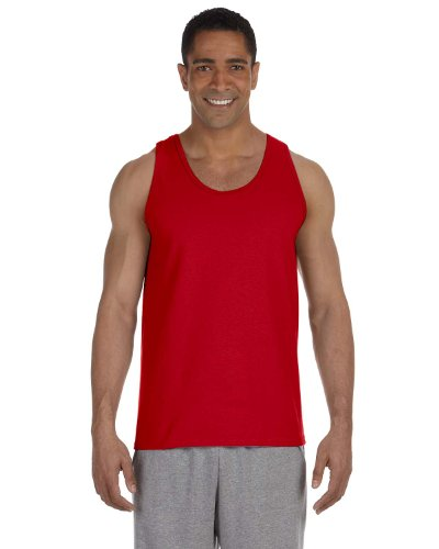 Gildan Ultra Cotton Adult Tank Top, Red, - Tank Cotton Top Gildan