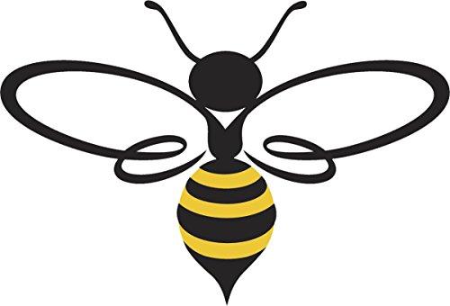 Pretty Assortment of Bumble Bees Cartoon Art Vinyl Decal Sticker (4