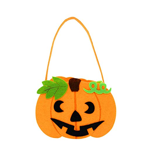 Halloween DIY Pumpkin Candy Bag Tote Bucket Basket Halloween Decoration Ornament Props Party Gift Bags,I for $<!--$13.16-->