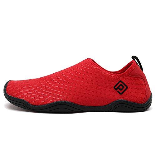 Dream Pairs Slip On Para Hombre Zapatos Deportivos De Agua Rojo Negro