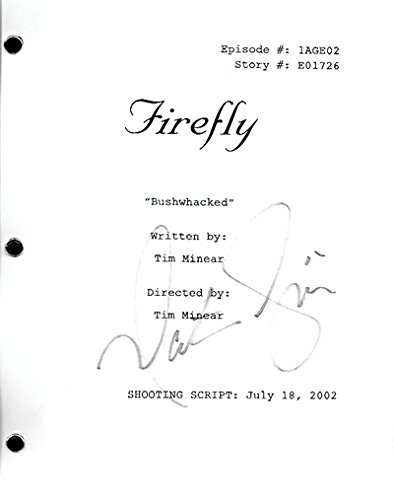 Nathan Fillion Signed In-person Firefly tv script