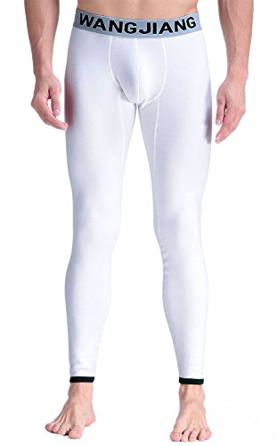 ARCITON Men's Long John Thermal Underwear Compression Base Layer Legging US M/with Tag L(Waist: 33''- 35'') Thicker 3020cku-White by ARCITON