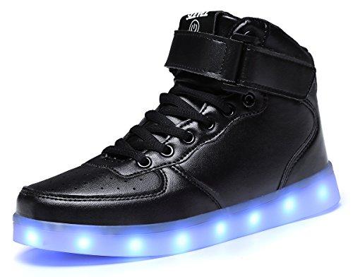 SLEVEL LED Light up Shoes USB Flashing Sneakers for Kids Boys Girls