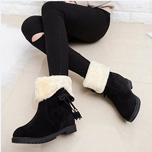 Tenworld Women's Flat Sneaker Shoes Fur Lined Winter Snow Ankle Boots Booties (6, - Boots Sunglasses