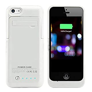 Kujian Iphone 5s Battery Case External Battery Power Bank With Kickstand Holder For Apple Iphone 5 5s 5c Se Ios 8 Or Above Compatible Black B00mvsnw2m Amazon Price Tracker Tracking Amazon Price History Charts