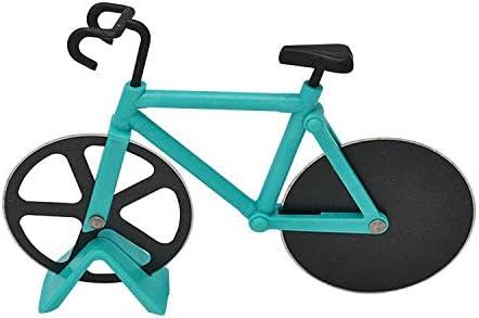 Cortador de pizza en forma de bicicleta de acero inoxidable con ...
