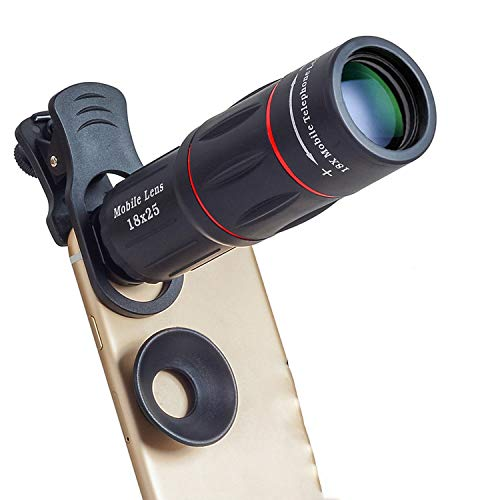 18X Zoom Monocular Telescopes for Mobile Phone Lens for iPhone Samsung Smartphones Universal Clip with Tripod