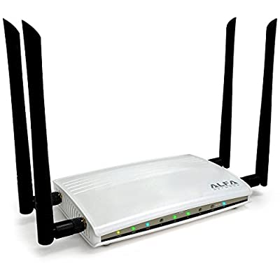 Alfa High-Power Gigabit AC1200 Router- 802.11ac wide range WiFi Router, wireless Up to 1200Mbps + Gigabit LAN/WAN for HD video streaming, Gaming & more