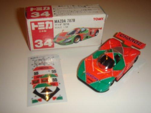1/64 マツダ 787B #55 (オレンジ×グリーン/赤箱) 「トミカ No.34」