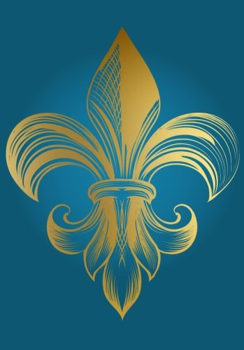 Golden Fleur De Lis Notebook (A5): A Classic Ruled/Lined Journal/Composition Book To Write In With Gold French Fleur De Lis Flower (Turquoise/Aqua) ... Best Friend and Other Women and Teen Girls)) (Nfl Football Pewter)
