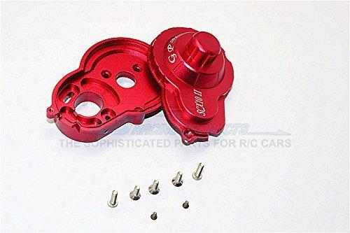 Axial SCX10 II Aggiornamento Parti (AX90046) Aluminium Spur Gear Housing - 2Pcs Set Red