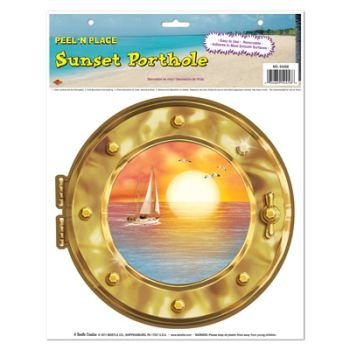 Sunset Porthole Peel 'N Place Party Accessory (1 count) (1/Sh) ()